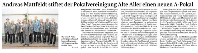 Bundestagsabgeordneter stiftet Pokal