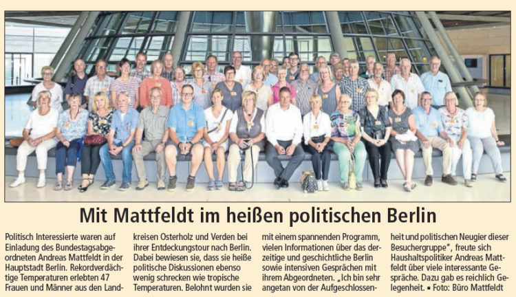 Politisch Interessierte besuchen Mattfeldt