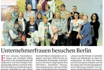 Unternehmerfrauen besuchen den Bundestag
