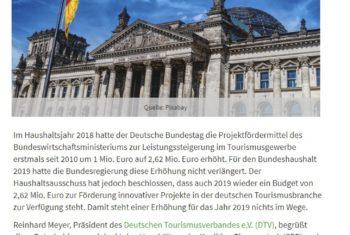 Geld für die Tourismusförderung