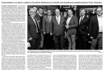 Osterholzer Mittelständler bei Wirtschaftsminister Peter Altmaier
