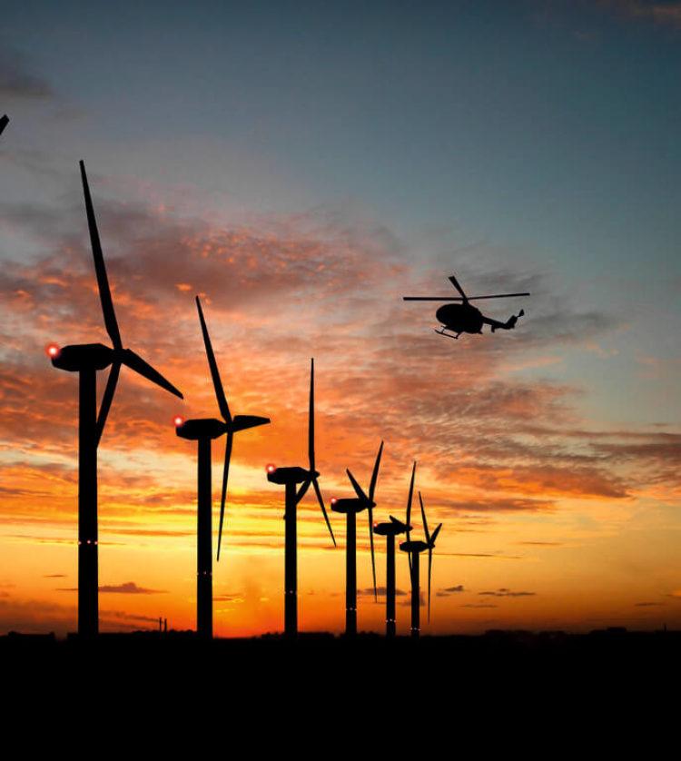 Windräder blinken künftig nicht mehr die ganze Nacht