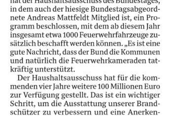 Geld vom Bund für 1000 neue Feuerwehrautos