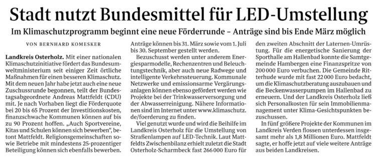 Bundesmittel für Osterholz-Scharmbeck