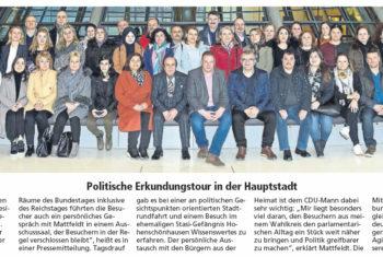 Türkischer Elternverein Verden besucht Mattfeldt in Berlin