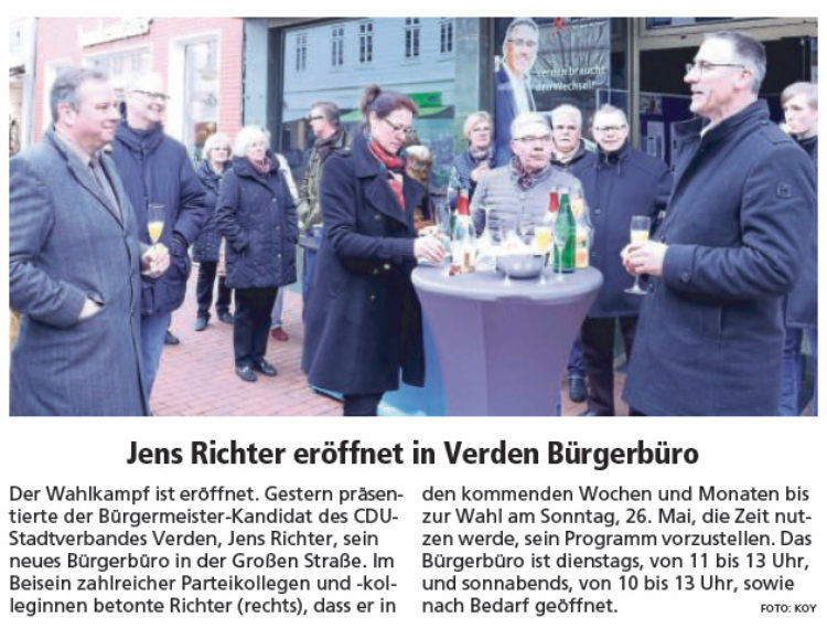 Andreas Mattfeldt unterstützt Jens Richter