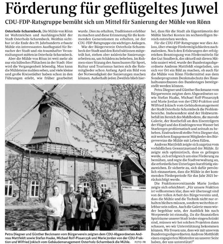 Hilfe für die Scharmbecker Mühle