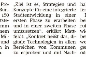 "Mattfeldt: Erster Förderaufruf für ""Smart Cities"""