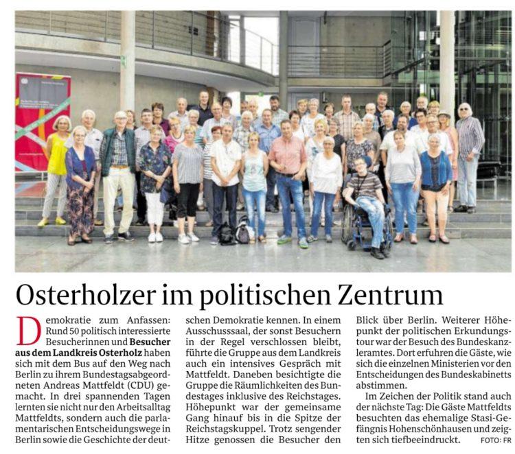 Osterholzer erkunden das politische Berlin