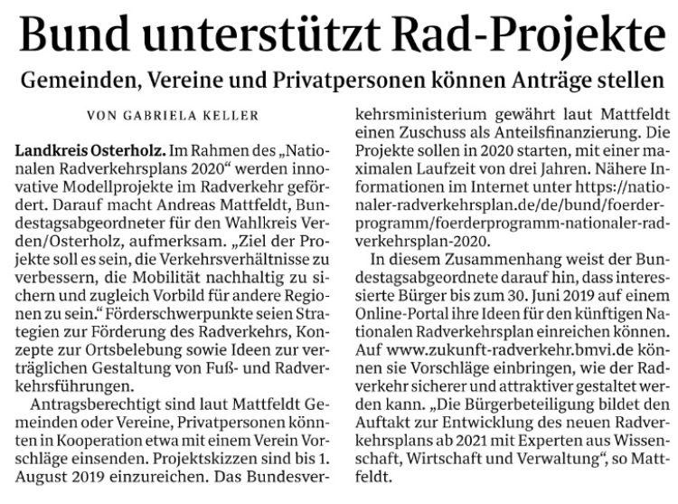 Bund unterstützt innovative Fahrrad-Projekte