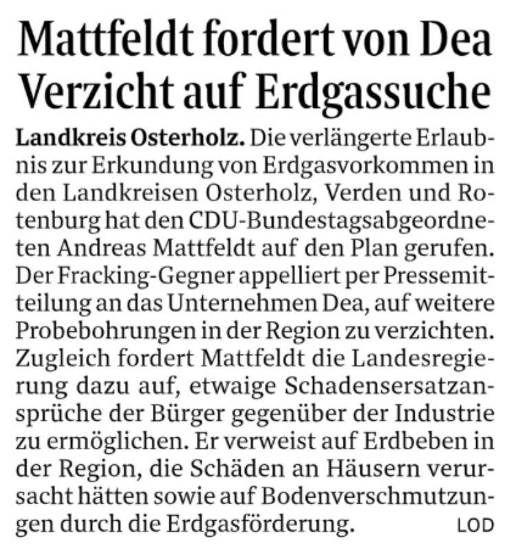 Auf die Suche nach Erdgas verzichten