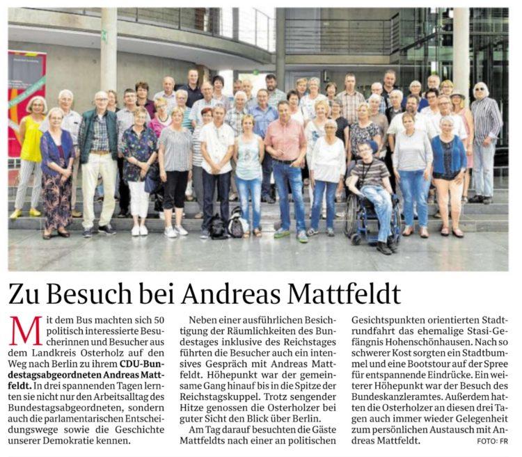 Osterholzer besuchen den Bundestag