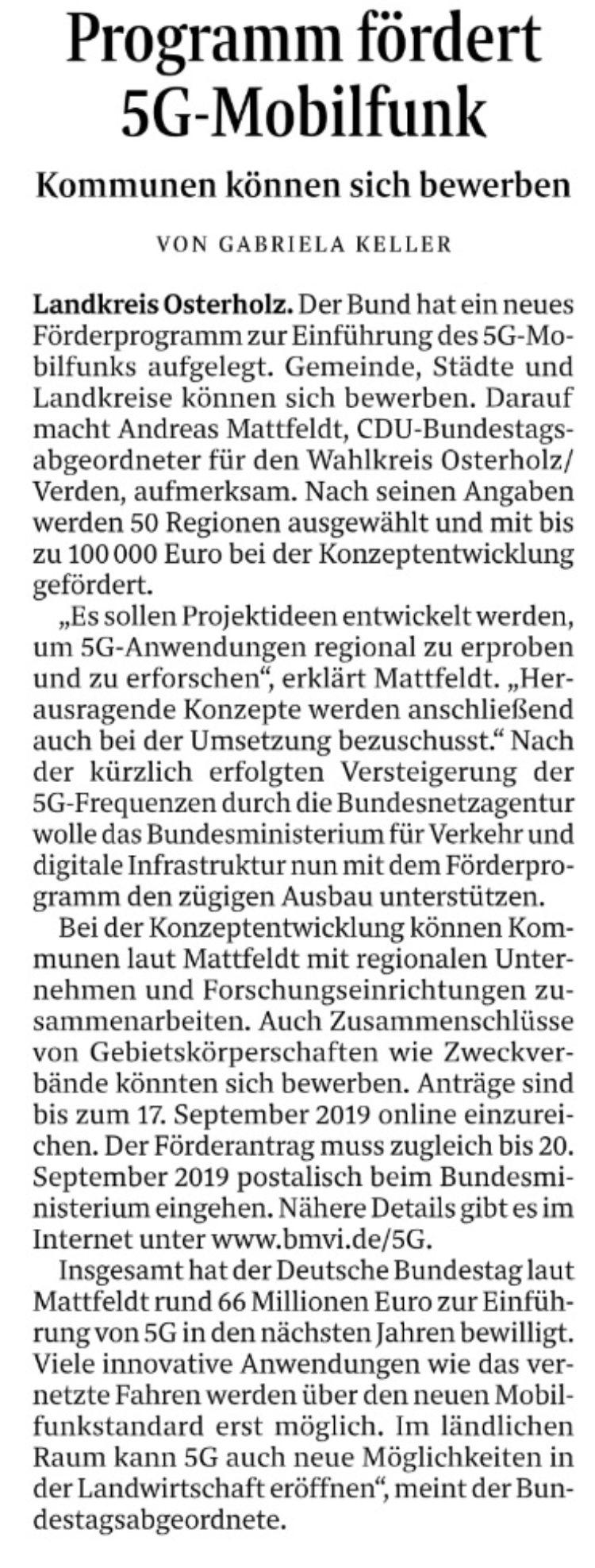 Bund fördert Mobilfunk-Ausbau