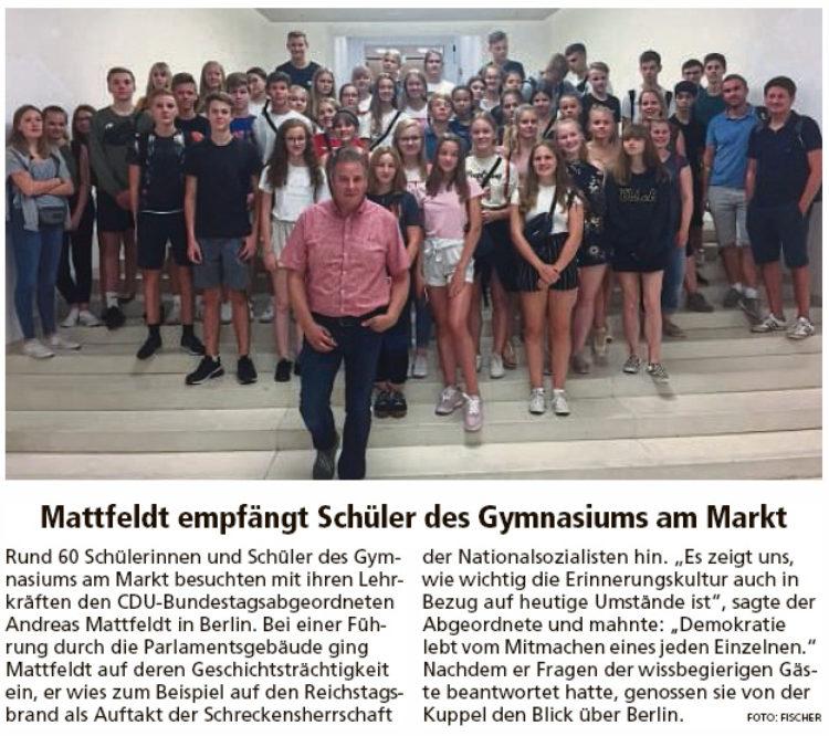 Achimer Schüler besuchen Mattfeldt