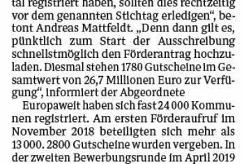 Mattfeldt: Förderung schnell beantragen