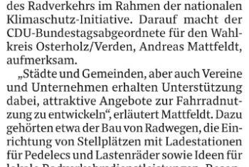 Bund fördert Radwege