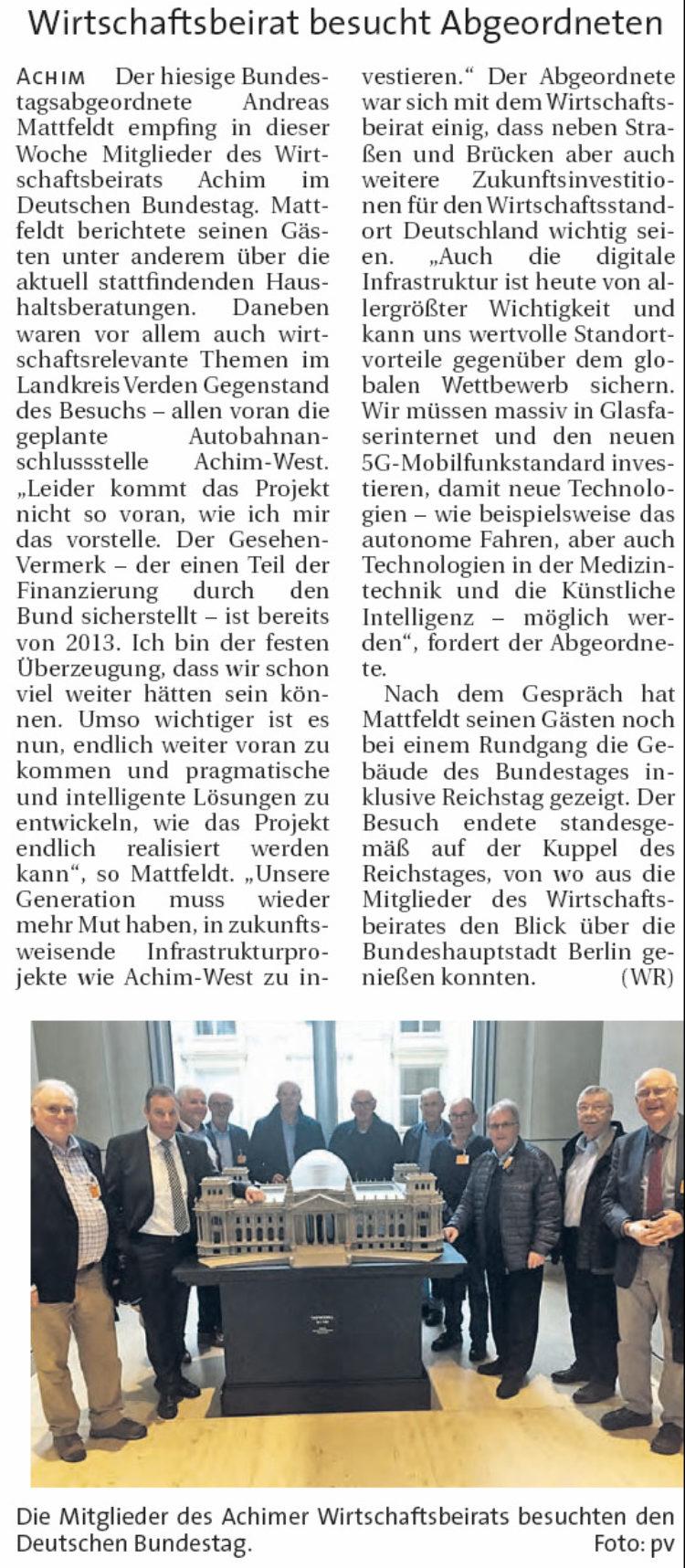 Gespräche im Bundestag