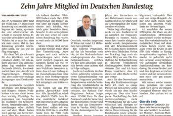 10 Jahre im Bundestag
