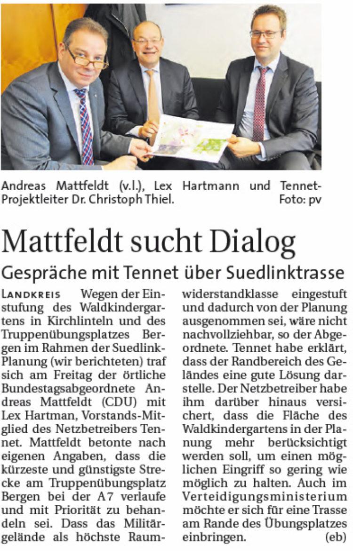 Besuch von Tennet in Berlin