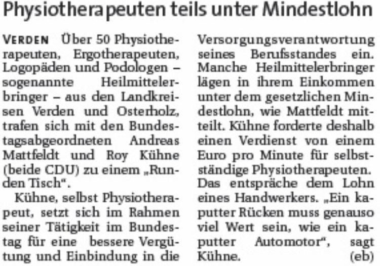 CDU will Lohnanpassung
