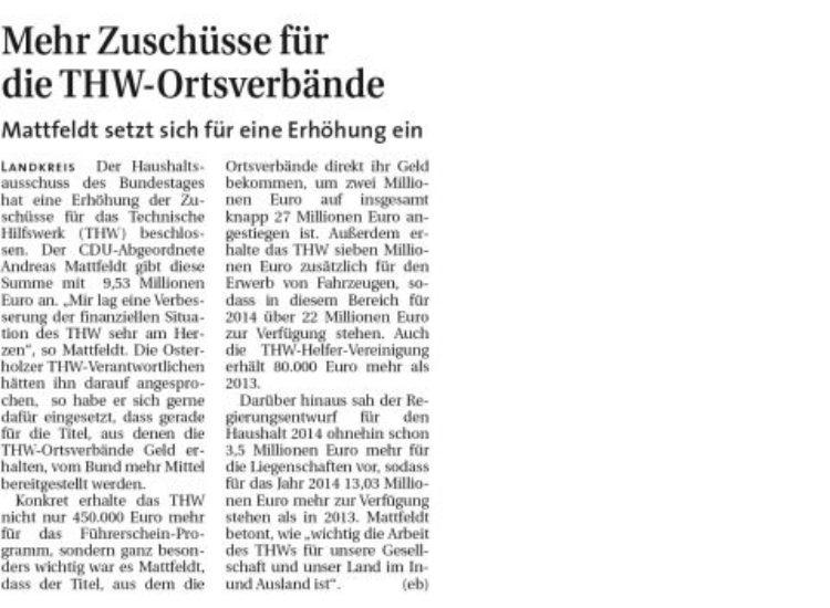 Hamme Report vom 8. Juni 2014