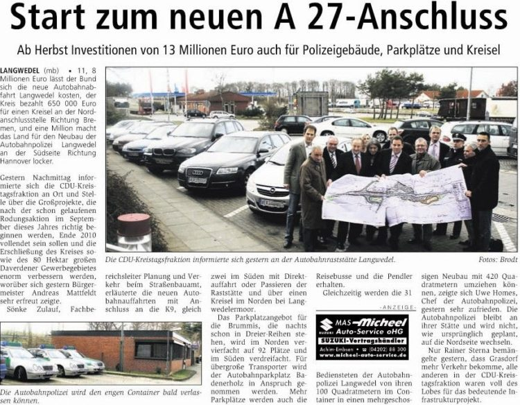 Autobahnabfahrt A 27