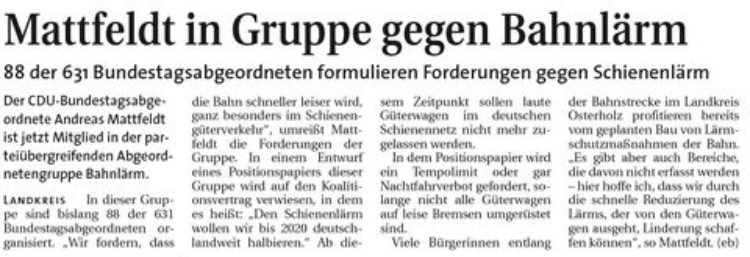 Hamme Report vom 25.1.2015