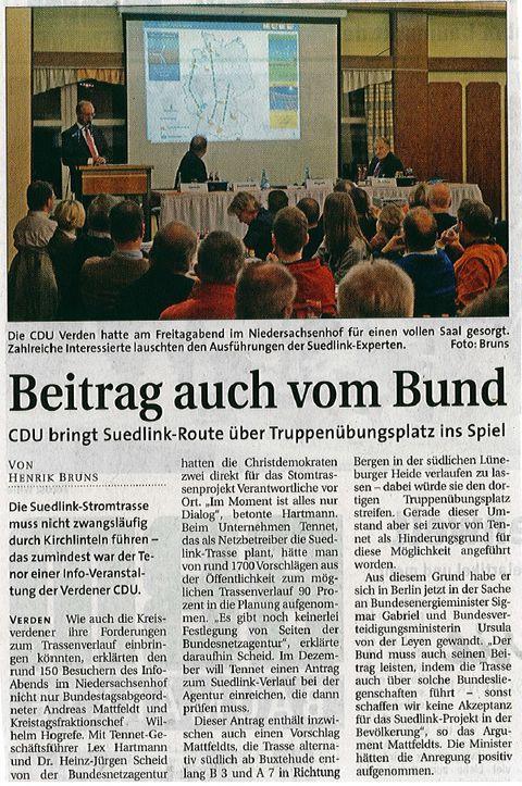 Beitrag auch vom Bund - aller report 10.11.14
