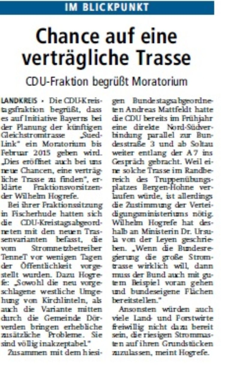 Verdener-Aller-Zeitung vom 14.10.2014
