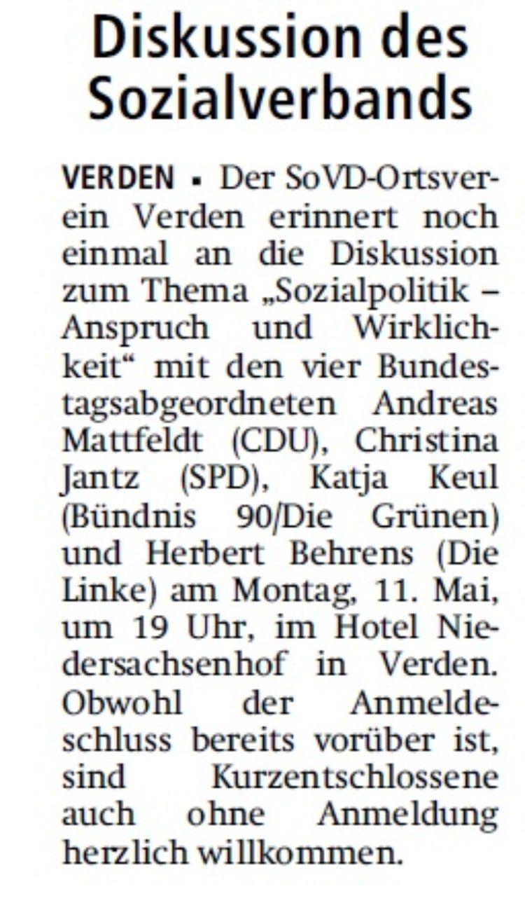Kreiszeitung vom 06.05.2015