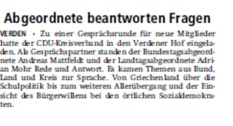 Verdener Aller Zeitung vom 29.07.2015