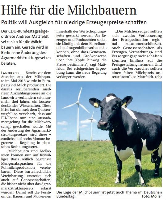 HP Hamme Report 11.05 Milchpreise