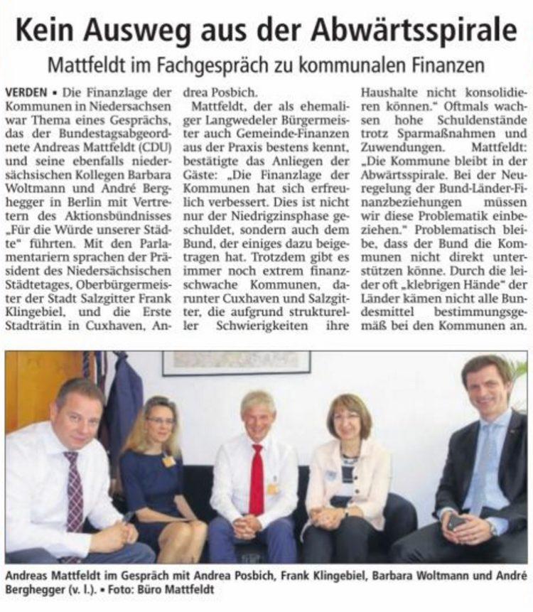 Mattfeldt im Fachgespräch zu kommunalen Finanzen