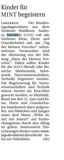 HP WR 04.05 Mattfeldt Kinder MINT