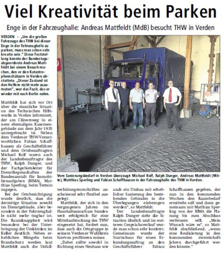 Kreiszeitung vom 31. Juli 2015
