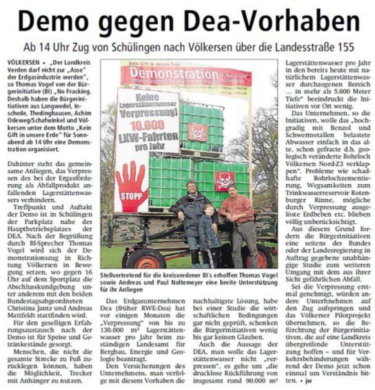 Kreiszeitung vom 07.05.2015