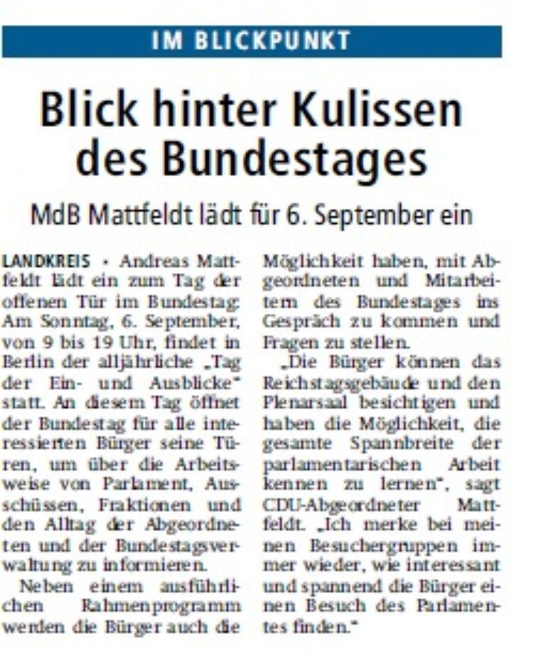 Kreiszeitung vom 21.07.2015