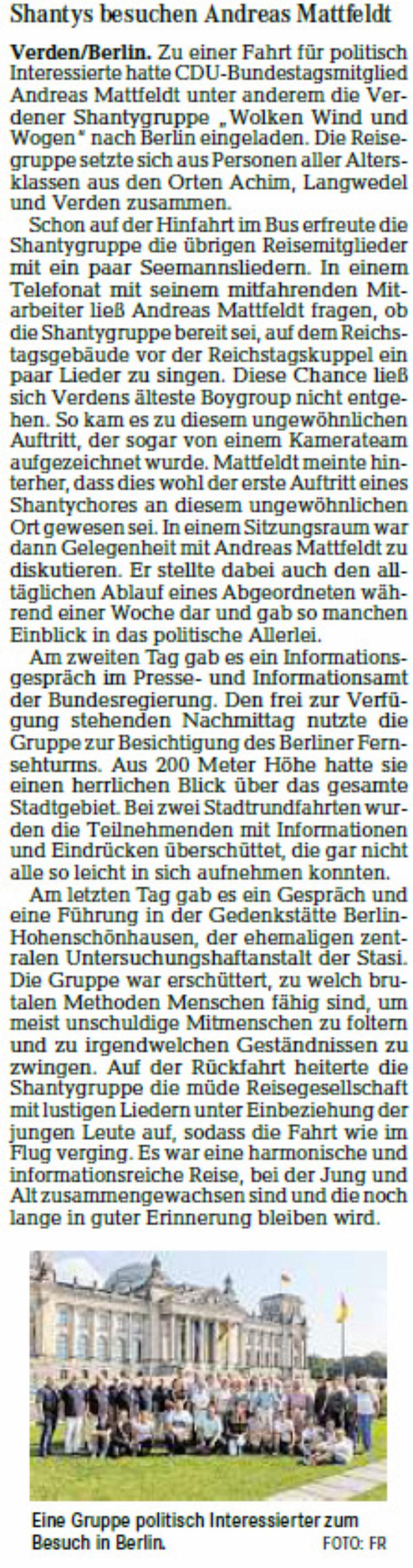Konzert auf dem Reichstag