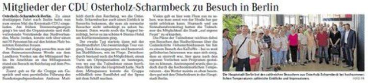 Osterholzer Kreisblatt vom 19.07.2015