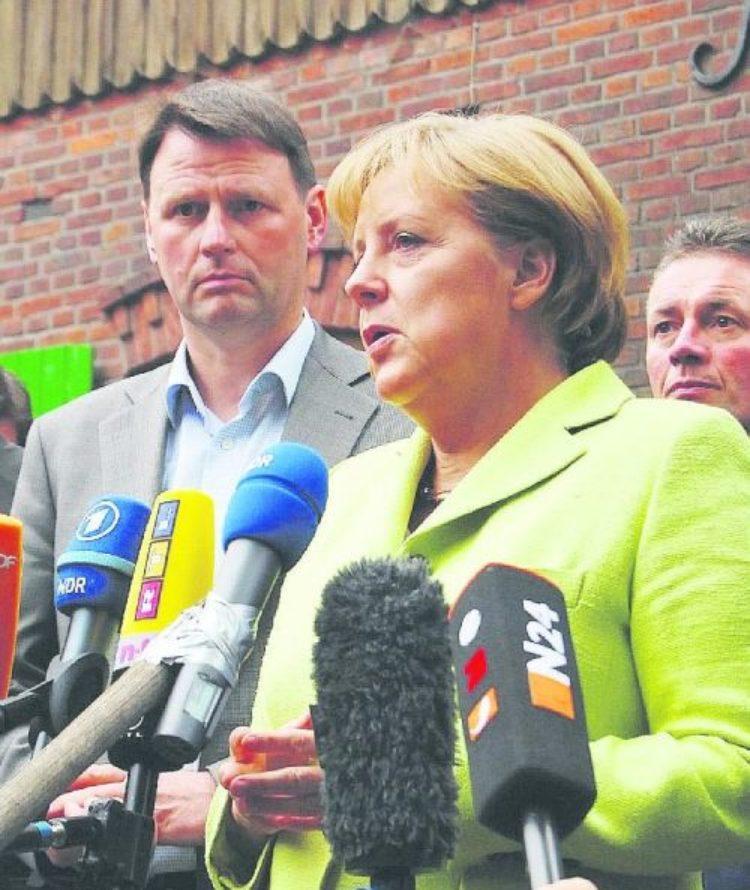 Merkel zu Besuch bei uns – Milchbauern in Not