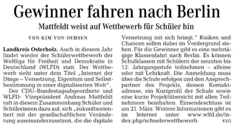 Gewinner fahren nach Berlin