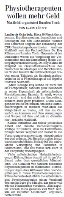 Osterholzer Kreisblatt vom 16.10.2015