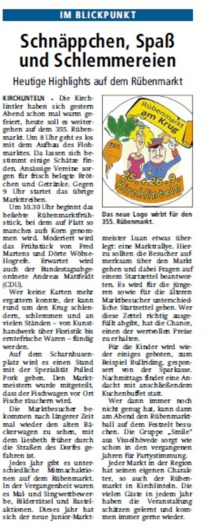 Kreiszeitung vom 26.09.2015