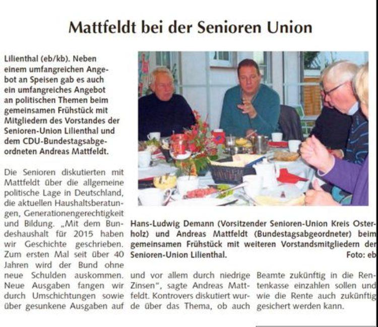 Osterholzer Anzeiger vom 21.12.2014