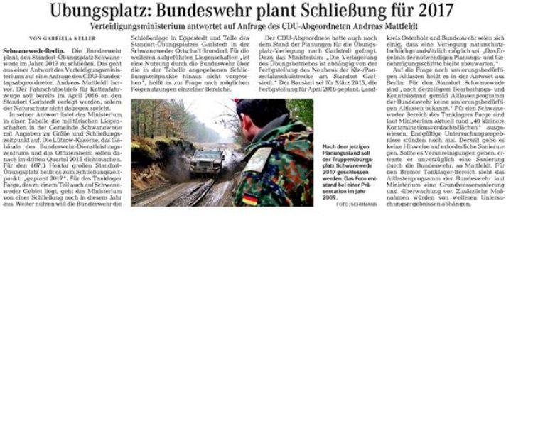 Die Norddeutsche 31.01.2014