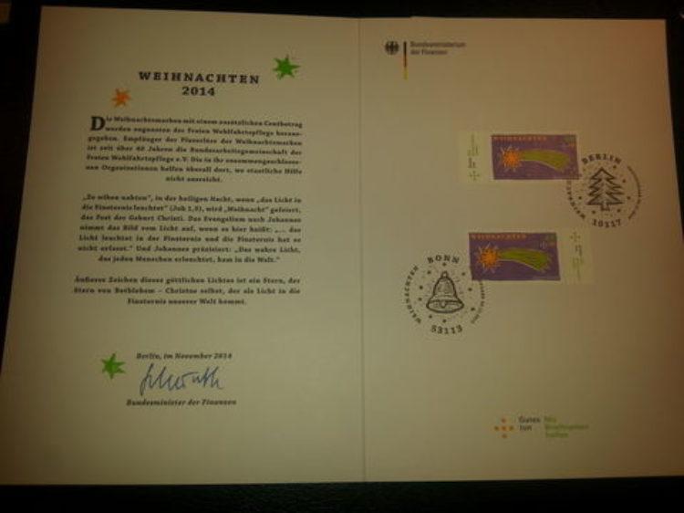 Verlosung: gestempelte Erstausgabe Sonderbriefmarke