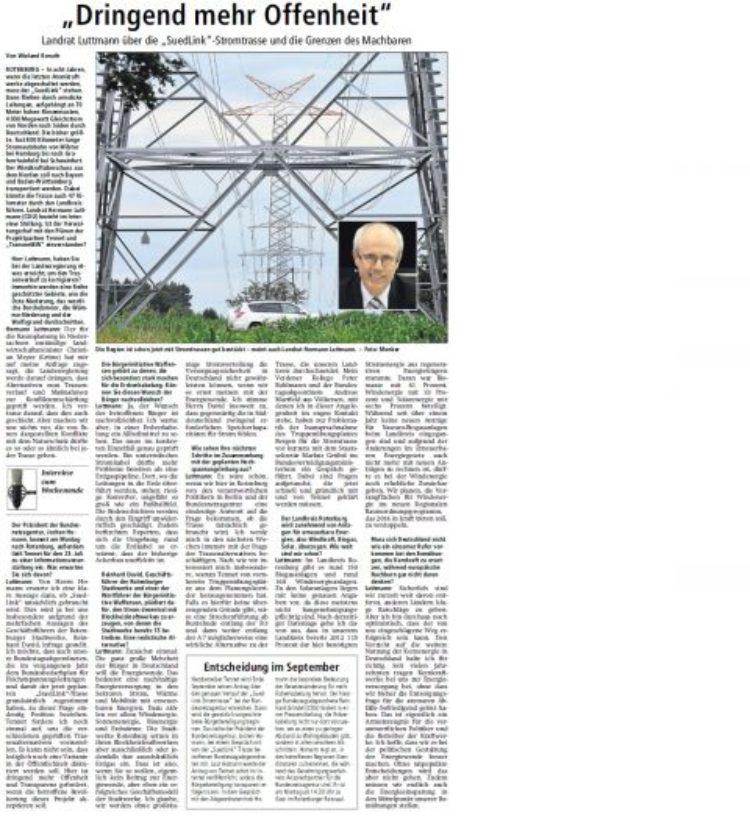 Rotenburger Kreiszeitung 05. Juli 2014