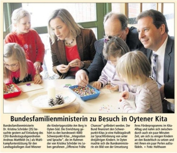 Dr. Kristina Schröder besucht Kita