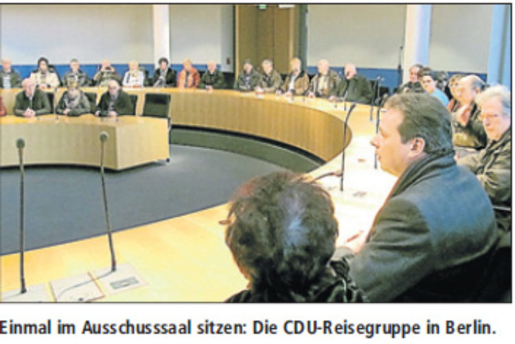 Mattfeldt empfängt CDU-Gruppe in Berlin
