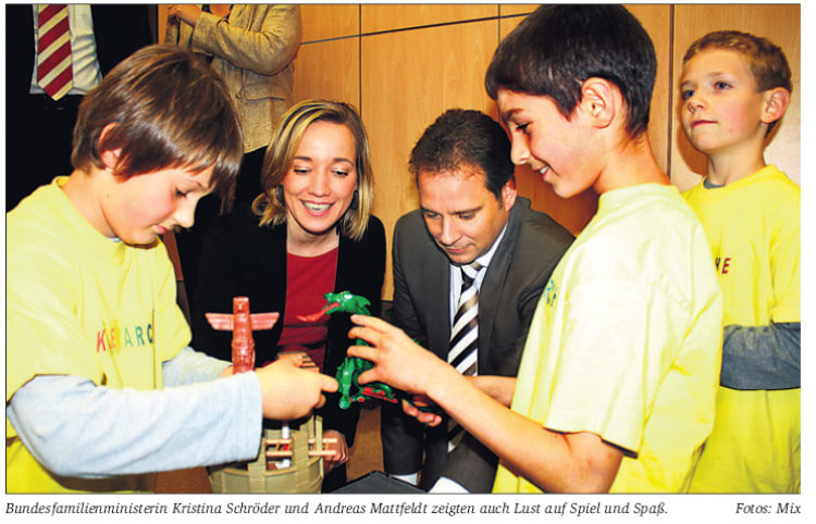 Bundesfamilienministerin besucht Kinderarche